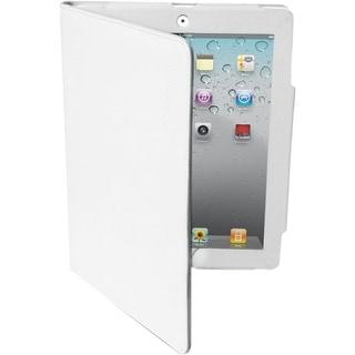 Premiertek LC-IPAD3-W Premiertek Carrying Case (Flip) for iPad - White - Leather