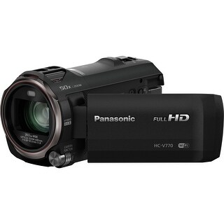 Panasonic HC-V770 HD Camcorder w/ Wireless Smartphone Twin Video Capture