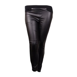 Tinseltown Juniors Skinny Faux-Leather Pants (Black, XS) - XS
