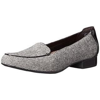 Clarks Womens Keesha Tweed Slip On Loafers - 9.5 narrow (aa,n)