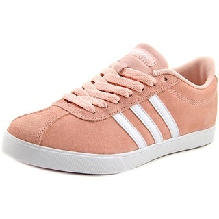Adidas Courtset W Women  Round Toe Suede Pink Sneakers