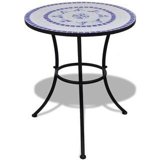 "vidaXL Mosaic Table 23.6"" Blue and White"