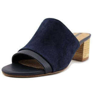Tahari Daisie   Open Toe Leather  Slides Sandal