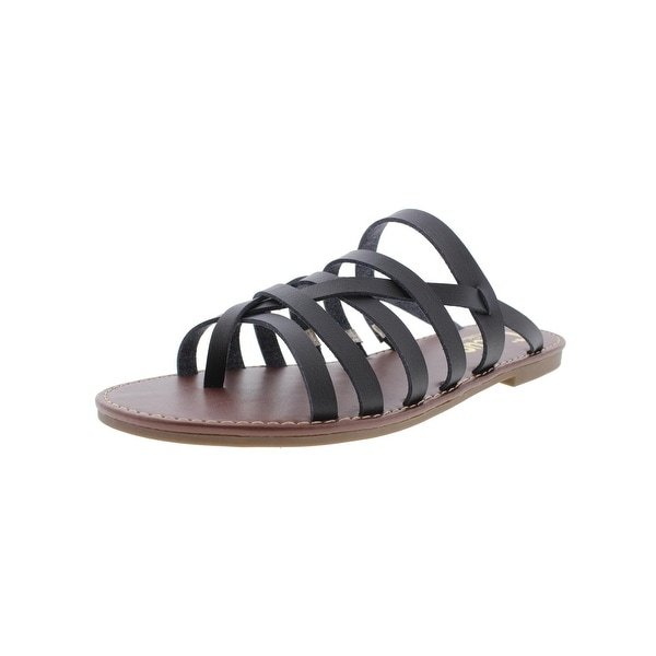 Circus by Sam Edelman Womens Brea Flat Sandals Faux Leather Thong