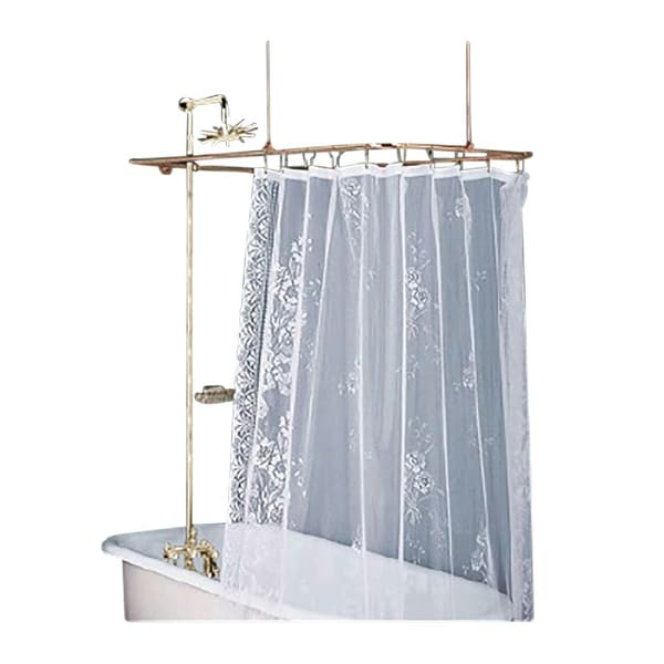 Ordinaire Rectangular Shower Surround Clawfoot Tub Wall Mount Faucet