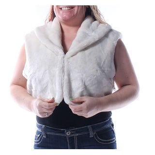 ALFANI $120 Womens 1256 1068 White Bolero Casual Coat L B+B