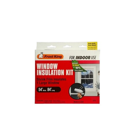 """Frost King V74 Window Insulation Kit, Clear, 54"""" x 84"""""""
