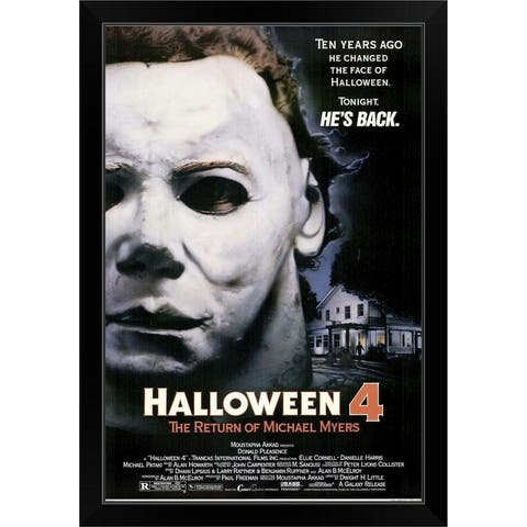 """Halloween 4 The Return of Michael Myers (1988)"" Black Framed Print"