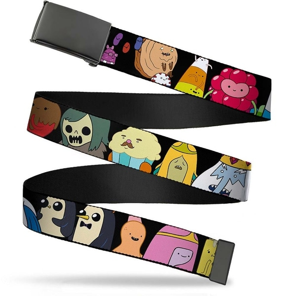 Blank Black Buckle Adventure Time Characters1 Black Webbing Web Belt