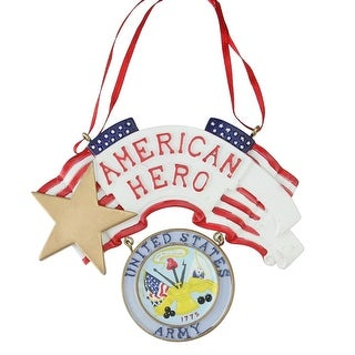 """4.25"""" """"American Hero"""" US Army Christmas Ornament for Personalization"""