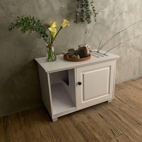 Cat Washroom with Litter Box