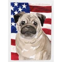 Carolines Treasures BB9391CHF Fawn Pug Patriotic Flag Canvas House