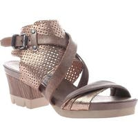 OTBT Women's Take Off Sandal Gold Leather
