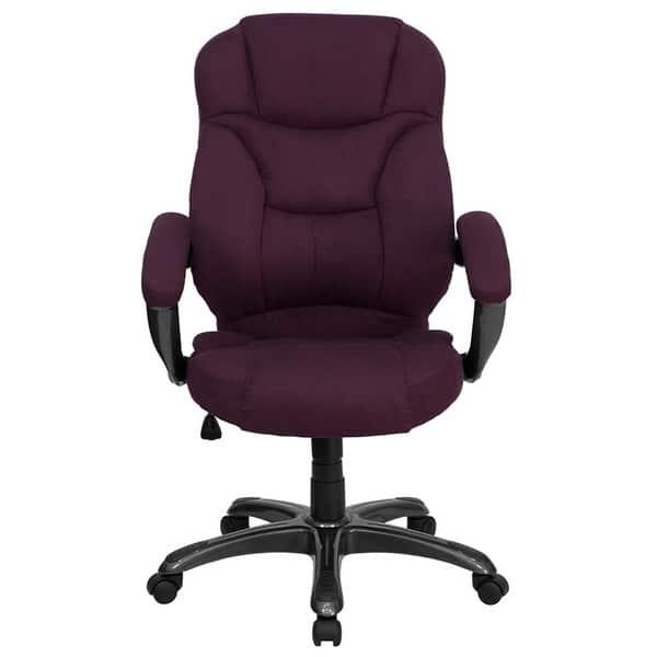 Wondrous Shop Aberdeen High Back Grape Microfiber Executive Swivel Pdpeps Interior Chair Design Pdpepsorg