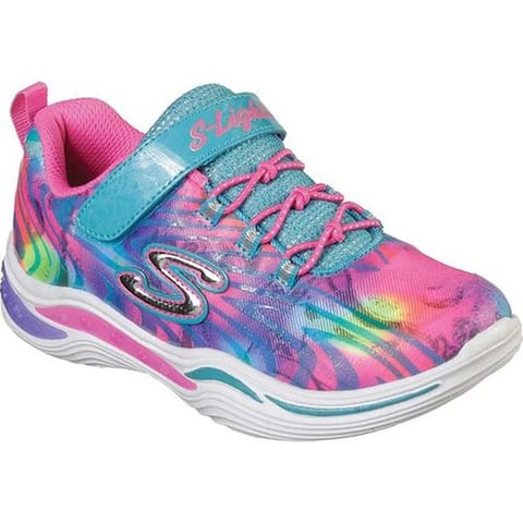 Skechers Girls' S Lights Power Petals Flowerspark Sneaker Multi