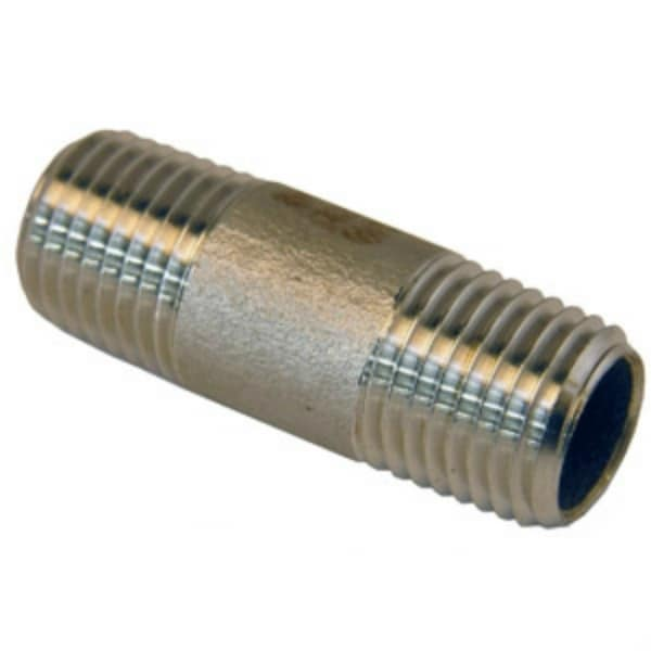 Lasco 32-1703 Type 304 Stainless-Steel Pipe Nipple, 3/8