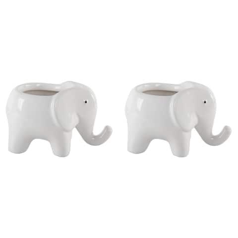 Set of 2 Ceramic elephant