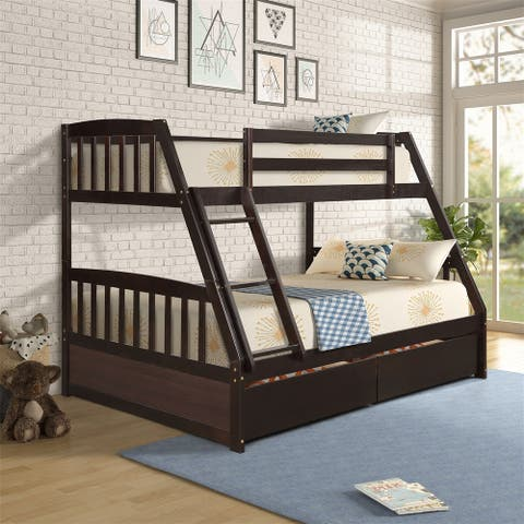 Taylor & Olive Vervain Twin Over Full Bunk Bed with 2 Storage Drawers