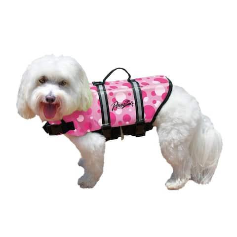 Pawz Pet Products Nylon Dog Life Jacket Pink