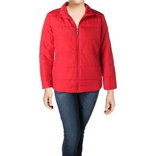 MICHAEL Michael Kors Womens Plus Puffer Coat Winter Lightweight