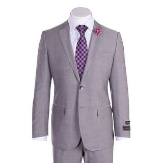 Novello Suit - Gray Herringbone, Modern Fit|https://ak1.ostkcdn.com/images/products/is/images/direct/380e8d7dde54aab0da790570da63fecae155e779/Novello-Suit---Gray-Herringbone%2C-Modern-Fit.jpg?impolicy=medium