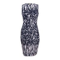 Calvin Klein Women's Printed Scuba Sheath Dress - Black Multi