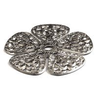 1-3/4? Flower Design Knob Backplate from the Crystal Collection
