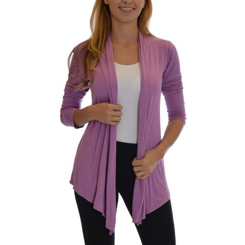 Dinamit Women's Solid-color Rayon Fly-away Cardigan