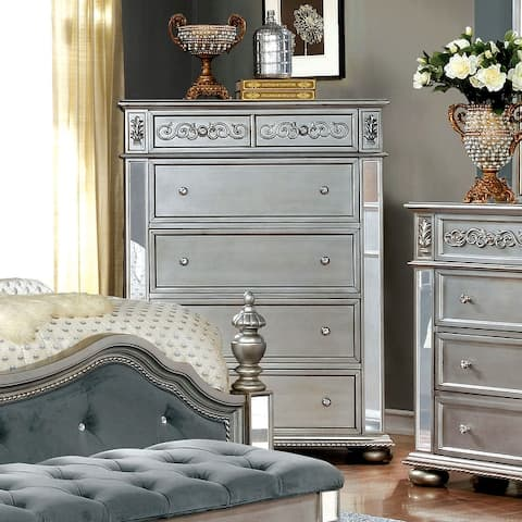 Furniture of America Zeln Traditional Solid Wood 5-drawer Chest
