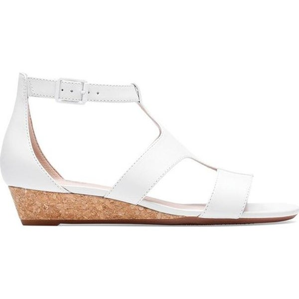 dc60d614bb Shop Clarks Women's Abigail Lily Strappy Sandal White Leather - On Sale - Free  Shipping Today - Overstock - 27346831
