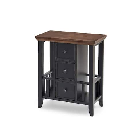Solid Wood Magazine Storage Table
