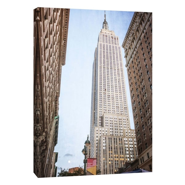 "PTM Images 9-106007 PTM Canvas Collection 10"" x 8"" - ""Empire State Building 2"" Giclee Empire State Building Art Print on Canvas"
