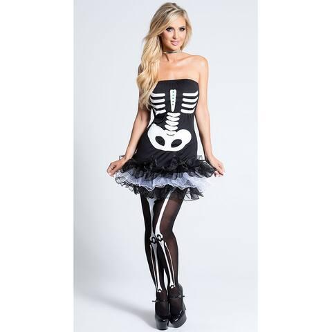 Fever Skeleton Tutu Dress - Black/White