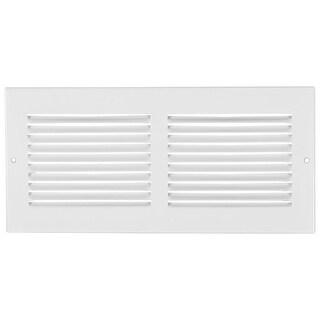 "Imperial RG0513 Standard Sidewall Grill, 24"" x 6"", White"