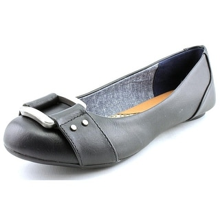 Dr. Scholl's Frankie Women Round Toe Synthetic Black Flats