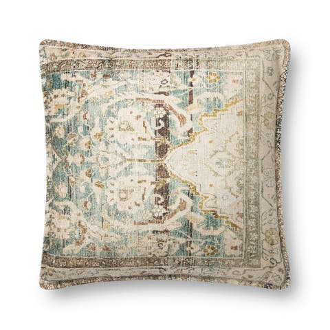 Alexander Home Reese Vintage Botanical Boho Throw Pillow