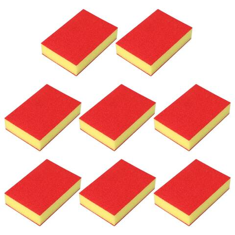 8pcs Scouring Pads Non-Scratch Scouring Sponge Scrub Scouring Kitchen Clean