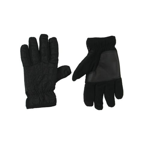 Timberland Mens Winter Gloves Quilted Midweight - Black - L/XL