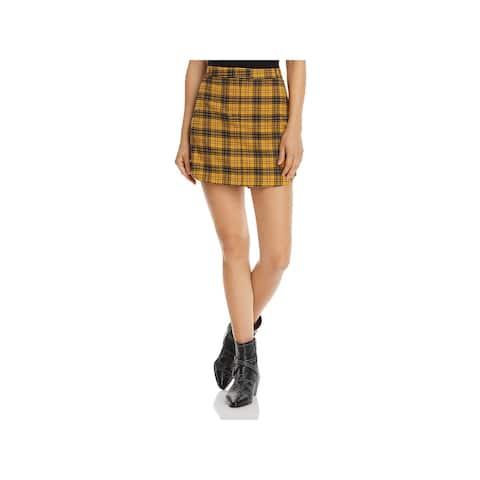 BB Dakota Womens Mini Skirt Woven Plaid