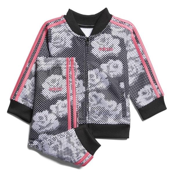 Pink, 6X Adidas Girls Tricot Zip Jacket and Pant Set