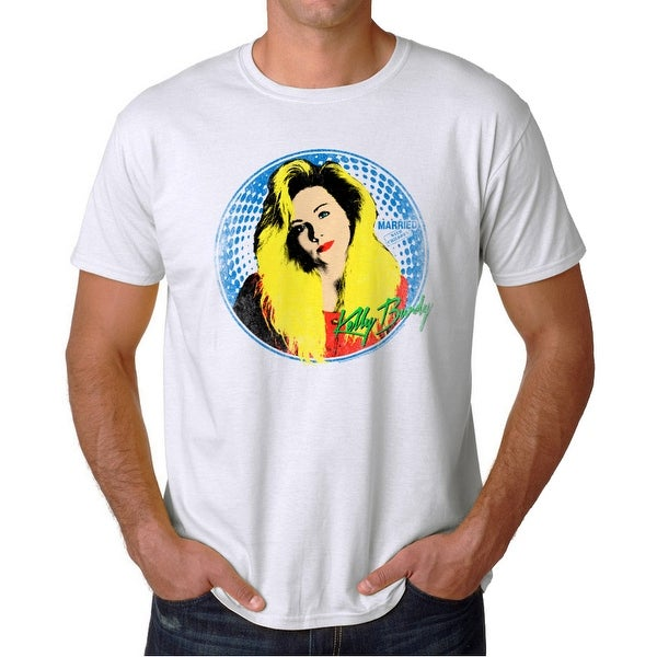 f7874812658a7 Shop Married With Children Kelly Hair Men's White T-shirt - On Sale - Free  Shipping On Orders Over $45 - Overstock - 19759470