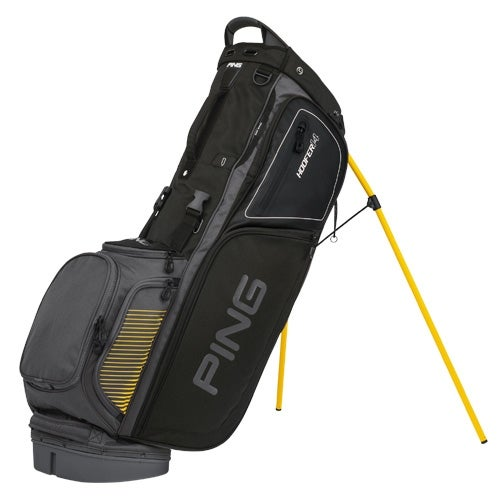 New Ping 2017 Hoofer 14 Golf Stand Bag (Charcoal / Black / Yellow) - charcoal / black / yellow
