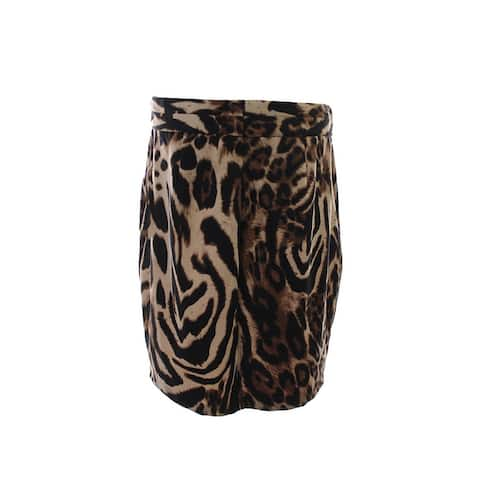Grace Elements New Brown Animal-Print Pencil Skirt XL