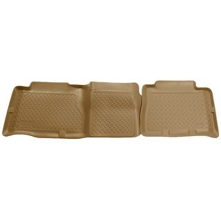 Husky Classic 2002-2006 Cadillac Escalade 2nd Row Tan Rear Floor Mats/Liners