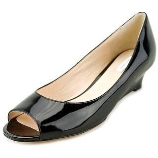 Cole Haan Bethany Open Toe Wedge Women Open Toe Synthetic Black Wedge Heel