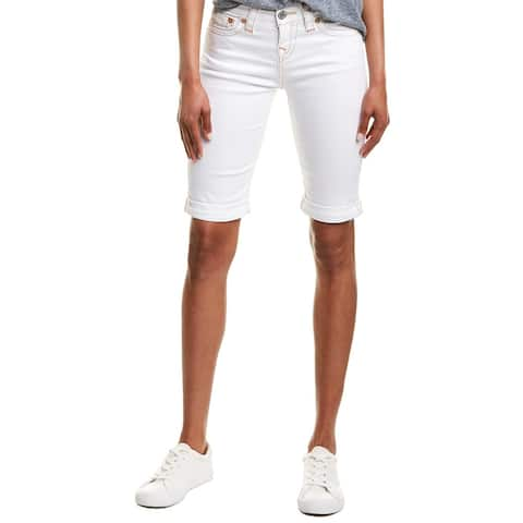 True Religion Riley Optic White Knee Length Short