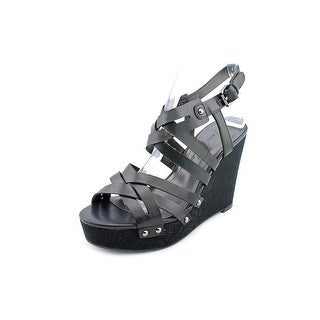 Marc Fisher Hayfa Women  Open Toe Synthetic Black Wedge Sandal