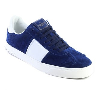 Valentino Men's Suede Rockstud Sneaker Shoes Royal Blue