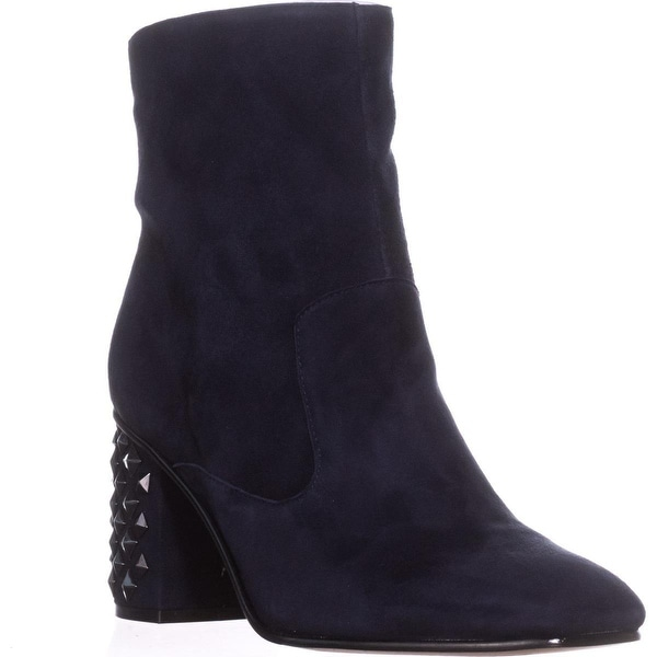 Guess Madeup Studded Heel Ankle Boots, Dark Blue - 11 us