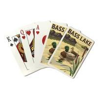 Bass Lake, CA - Mallard Ducks - LP Artwork (Poker Playing Cards Deck)